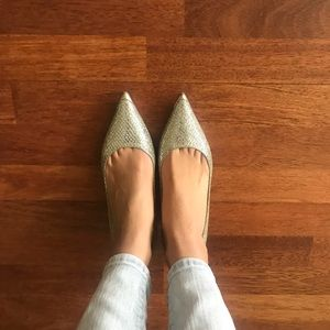 Jimmy chop glitter pointed toe shoes